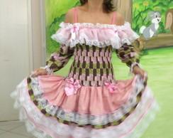 Vestido Floral LASTEX ADULTO
