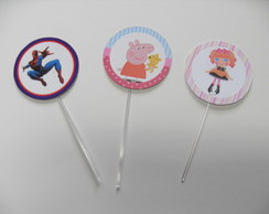 Toppers Doces e Cupcakes Personalizados