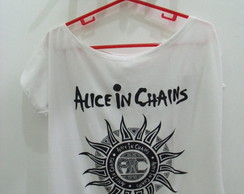 Blusa Gola Canoa Alice In Chains