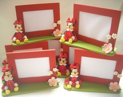 Porta retrato Mickey e Minnie em mdf