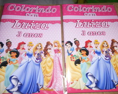 revista colorir princesas s/ giz