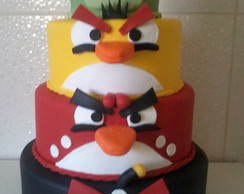 Bolo Biscuit ''Angry Birds''