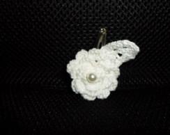 flor em croche com bico de pato