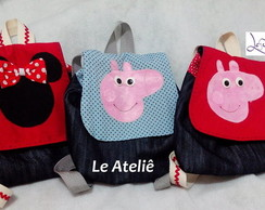MOCHILA JEANS PEPPA, GEORGE, MINNIE