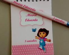 Caderneta e L�pis Personalizado Dora