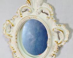 Espelho proven�al em gesso pequeno