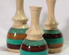 Trio vasos verde