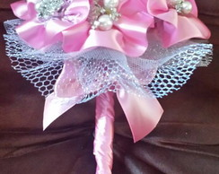 Mini Bouquet De Broches com Fitas