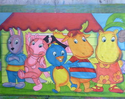 PAINEL DECORATIVO BACKYARDIGANS 300X170