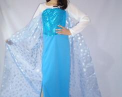 Vestido fantasia Rainha Elsa