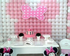 Decora��o Clean Minnie rosa para Loca��o