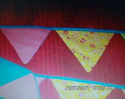 bandeirinhas de tecidos