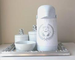 Kit Higiene Ursinho Prateado com Garrafa