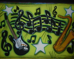 PAINEL DECORATIVO MUSIC ROCK 200X170