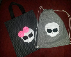 Bolsa e mochila tecido