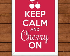 Poster Keep Calm and Cherry On
