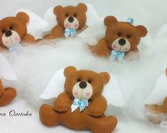 Lembrancinha Urso anjo para Batizado