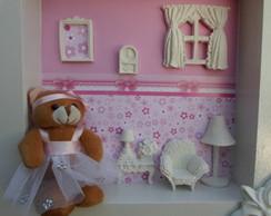Porta maternidade ursa bailarina rosa
