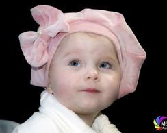 Boina Infantil Rosa Beb�