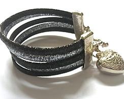 Bracelete de tiras brilhantes