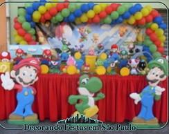 Decora��o Mesa Mario Bros