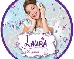 Tag Personalizada para Latinha Violetta