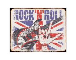 Placa Retr� Mdf Rock'n'Roll - 767