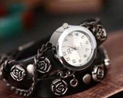 Rel�gio Feminino Bracelete C/ Flores