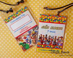 Convite Credencial Lego