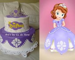 Bolo Fake Princesa Sofia