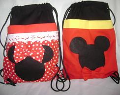 mochila infantil mickey e minie