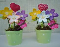 Vaso decorado amor