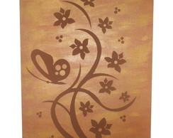"""Quadro """"Flores e Borboletas"""" (MDF)"""