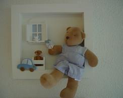 (MO 0254) Quadro mat brincadeira urso