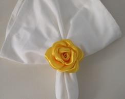 Porta Guardanapo De Rosa - Amarelo