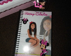 Caderno de assinaturas minnie rosa
