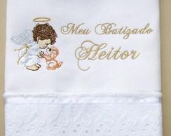 Toalha Para Batizado Bordada