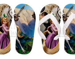 Chinelos Personalizados Rapunzel 02