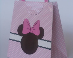sacola chic minnie rosa