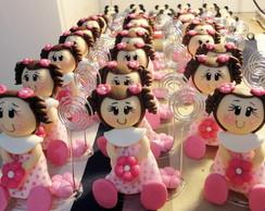 Boneca em biscuit Florzinha