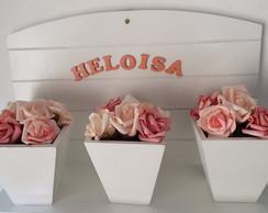Floreira Branca - Rosas