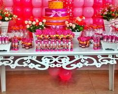 Decora��o Proven�al Pink com Laranja
