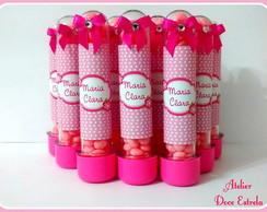 Tubete com Chocolate Pink com Laranja