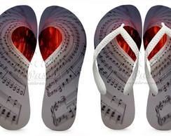 Chinelos Personalizado I Love Music 03