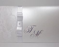 Convite De Casamento Luva Branco