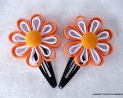 Par de Flores Coral com Branco