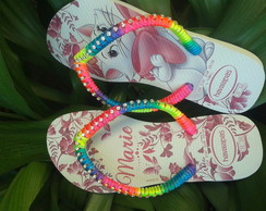 CHINELO INFANTIL DECORADO COM STRASS