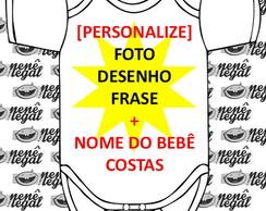 Body Beb� Personalizado FRENTE COSTAS