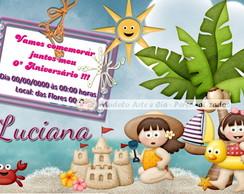 Convite Praia - Menina