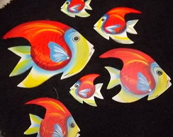 Peixes de Madeira decora��o r�stica